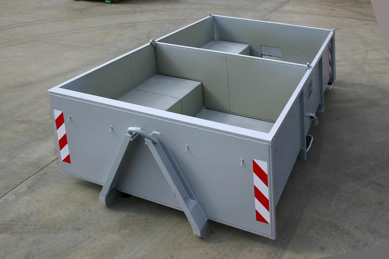 typ: ABL-380PED1250-7,5.11S,  kód: 4224-5839-282-8287, kontejner s přepážkami a úložným krytým prostorem pro hydraulicky poháněný pásový dopravník