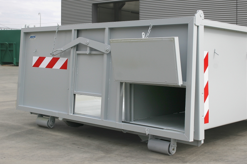 typ: ABL-380PED1250-7,5.11S,  kód: 4224-5839-282-8285, kontejner s přepážkami a úložným krytým prostorem pro hydraulicky poháněný pásový dopravník